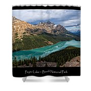 Peyto Lake Poster Shower Curtain