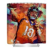 Peyton Manning Abstract 4 Shower Curtain
