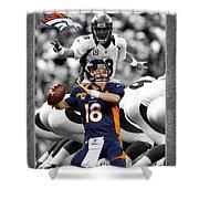 Peyton Manning Broncos Shower Curtain