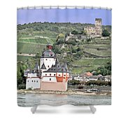 Pfalzgrafenstein With Burg Gutenfels  Shower Curtain