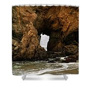 Pfeiffer Beach Rocks In Big Sur Shower Curtain