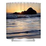 Pfeiffer Beach Sunset II Shower Curtain by Jenna Szerlag