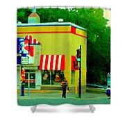 Pfk Poulet Frit Kentucky Kfc Sherbrooke And Decarie Montreal Art Restaurant Scenes Carole Spandau Shower Curtain