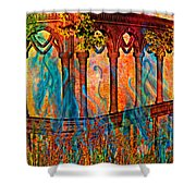 Phantom Fires Shower Curtain