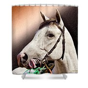 Phantom Lover Race Horse Looking On Shower Curtain