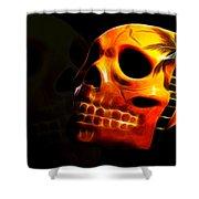Phantom Skull Shower Curtain by Shane Bechler