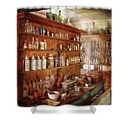 Pharmacist - Behind The Scenes  Shower Curtain by Mike Savad
