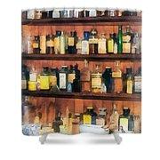Pharmacist - Mortar Pestles And Medicine Bottles Shower Curtain