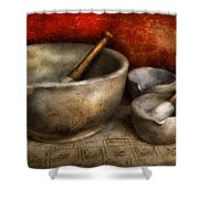 Pharmacist - Pestle And Son  Shower Curtain