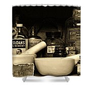 Pharmacy - Cod Liver Oil And More Shower Curtain