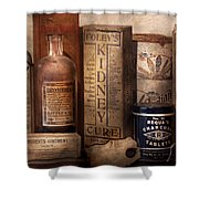Pharmacy - Cures For The Bowels Shower Curtain