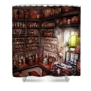Pharmacy - Equipment - Merlin's Study Shower Curtain by Mike Savad