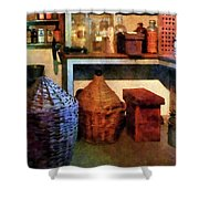 Pharmacy - Medicine Bottles And Baskets Shower Curtain
