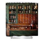 Pharmacy - Medicine - Pharmaceutical Remedies  Shower Curtain