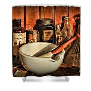 Pharmacy - Opium The Cure All Shower Curtain