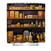 Pharmacy - Quick I Need A Miracle Cure Shower Curtain by Mike Savad