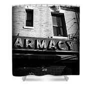 Pharmacy - Storefronts Of New York Shower Curtain