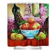 Pheasant And Fruit Shower Curtain