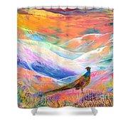 Pheasant Moon Shower Curtain