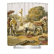Pheel Khana, Or Elephants Quarters Shower Curtain