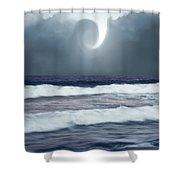 Phenomenon Above The Sea Shower Curtain