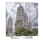 Phetchaburi Temple 17 Shower Curtain
