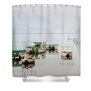 Phewa Lake In Pokhara Nepal Shower Curtain