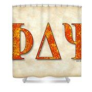 Phi Delta Psi - Parchment Shower Curtain