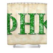 Phi Eta Kappa - Parchment Shower Curtain