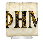 Phi Eta Mu - Parchment Shower Curtain