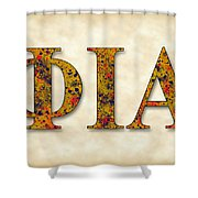 Phi Iota Alpha - Parchment Shower Curtain