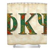 Phi Kappa Psi - Parchment Shower Curtain
