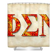 Phi Sigma Nu - Parchment Shower Curtain