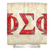 Phi Sigma Phi - Parchment Shower Curtain