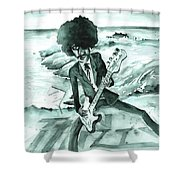 Phil Lynott In Howth Shower Curtain