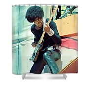 Phil Lynott Of Thin Lizzy - Black Rose Tour Day On The Green 7-4-79  Shower Curtain