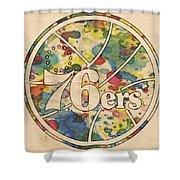 Philadelphia 76ers Retro Poster Shower Curtain