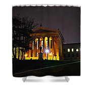 Philadelphia Art Museum  At Night From The Rear Shower Curtain