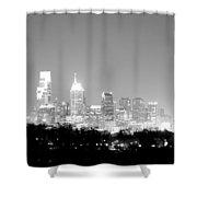 Philadelphia City Glow Shower Curtain