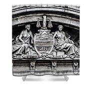 Philadelphia City Hall - City Seal  Shower Curtain