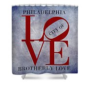 Philadelphia City Of Brotherly Love  Shower Curtain
