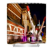 Philadelphia Crash Landing Shower Curtain