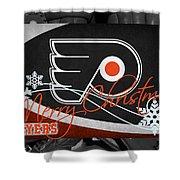 Philadelphia Flyers Christmas Shower Curtain
