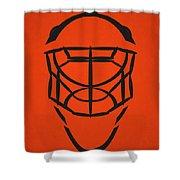 Philadelphia Flyers Goalie Mask Shower Curtain
