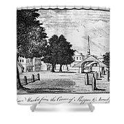 Philadelphia Market, 1788 Shower Curtain