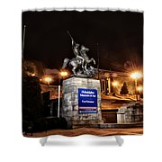Philadelphia Museum Of Art At Night - East Entrance Shower Curtain
