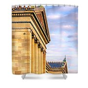 Philadelphia Museum Of Art Facade Shower Curtain