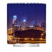 Philadelphia Nightscape Shower Curtain
