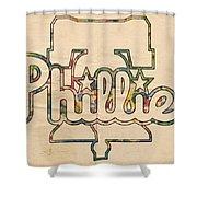 Philadelphia Phillies Logo Art Shower Curtain