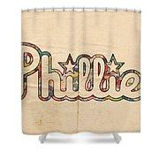 Philadelphia Phillies Poster Art Shower Curtain